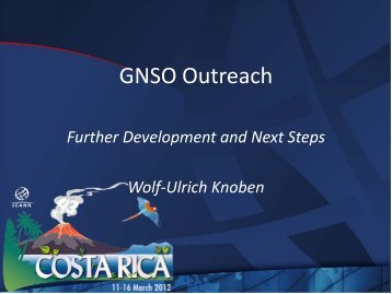 GNSO Outreach - Costa Rica