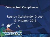 Registry Stakeholder Group - Costa Rica - icann