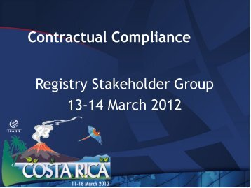 Registry Stakeholder Group - Costa Rica - icann
