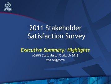 2011 Stakeholder Satisfaction Survey - Costa Rica - icann