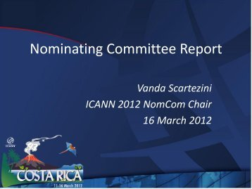 Nominating Committee Report - Costa Rica - icann