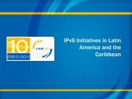 IPv6 Initiatives in Latin America and the Caribbean - Costa Rica