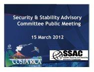 SSAC Public Meeting - Costa Rica - icann