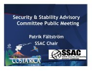 Security & Stability Advisory Committee Public Meeting - Costa Rica ...