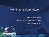 Nominating Committee Workshop - Costa Rica - icann