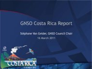 GNSO Report - Costa Rica