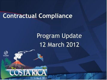 Contractual Compliance - Program Update - Costa Rica - icann
