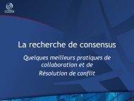 La recherche de consensus - Costa Rica