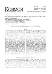Tom 59 2010 Numer 3–4 (288–289) Strony 365–374 - Kosmos