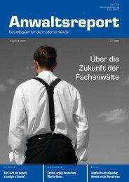 Über die Zukunft der Fachanwälte - Anwalt-Suchservice