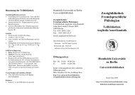 Anglistik/ Amerikanistik - Universitätsbibliothek der HU Berlin ...