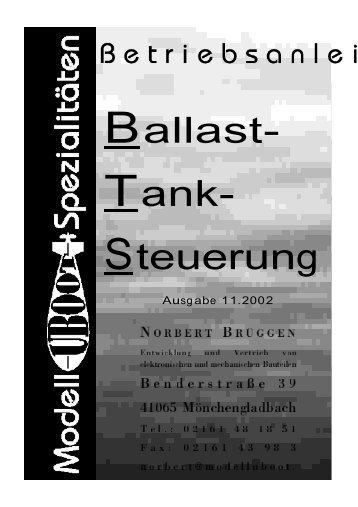 Anleitung BallastTankSchalter - Modell-Uboot-Spezialitäten
