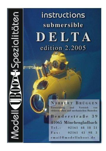 Anleitung DELTA 2.'5e - Modell-Uboot-Spezialitäten
