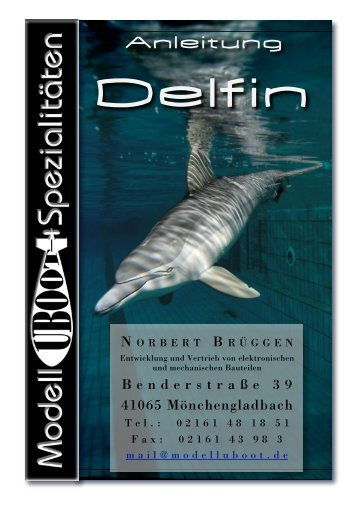 Anleitung Delphin - Modell-Uboot-Spezialitäten