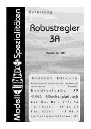Anleitung Robustregler - Modell-Uboot-Spezialitäten