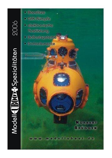 Katalog '6 - Modell-Uboot-Spezialitäten