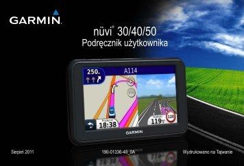 nüvi® 30/40/50 - Garmin24.pl