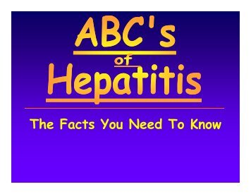 The Facts You Need To Know - Nevada State Health Division