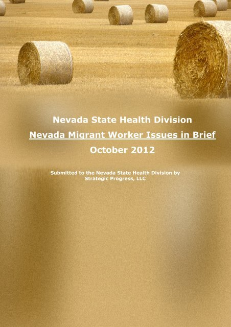 Migrant Issues Brief October 2012 - Nevada State Health Division