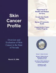 Skin Cancer Profile - Nevada State Health Division - State of Nevada