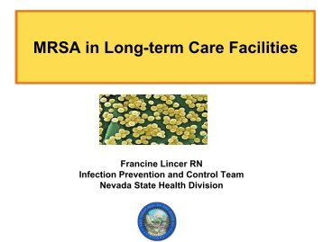 MRSA in Long-term Care Facilities - Nevada State Health Division