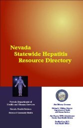 Resource Directory - Final - Nevada State Health Division