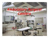 Ambulatory Surgical Centers - Nevada State Health Division