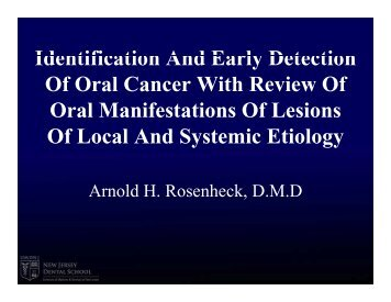 Identification And Early Detection Identification And Early Detection ...