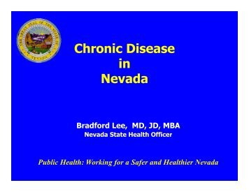 Chronic Disease in Nevada - Nevada State Health Division