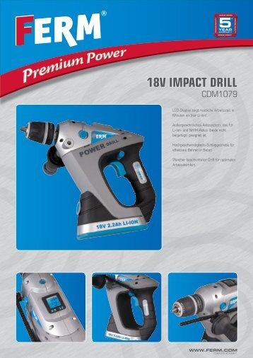 18V IMPACT DRILL - FERM.com