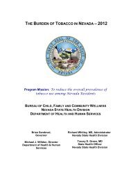 the burden of tobacco in nevada - Nevada State Health Division ...