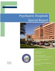 Psychiatric Hospitals Special Report - Nevada State Health Division ...