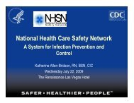 National Health Care Safety Network - Nevada State Health Division