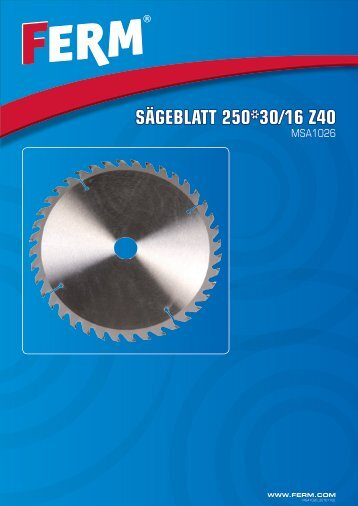 Sägeblatt 250*30/16 Z40 - FERM.com