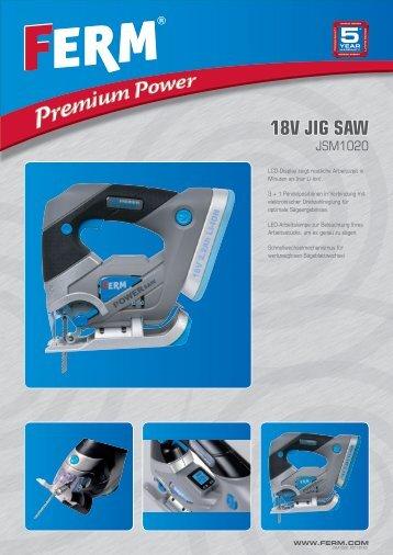 18V Jig Saw - FERM.com