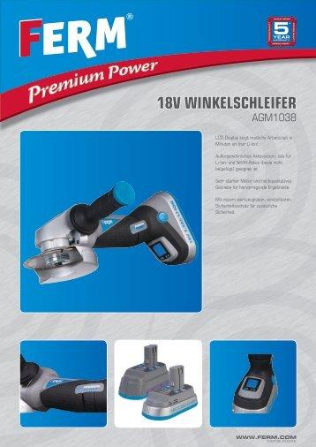18V WINKELSCHLEIFER - FERM.com