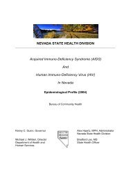 AIDS - Nevada State Health Division - State of Nevada