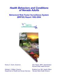 BRFSS Report 1992-2004 - Nevada State Health Division - State of ...