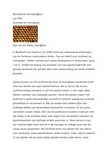 Stuifmeel en honingbijen - KonVIB