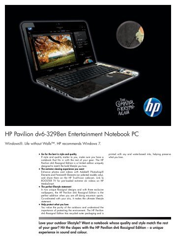 PSG Consumer 3C10 HP Notebook Datasheet - PC Press