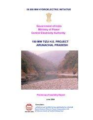 150 MW TIZU H.E. PROJECT ARUNACHAL ... - Ministry of Power