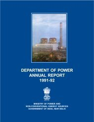 department of power annual report 1991-92 - Ministry of Power