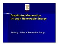 Distributed Generation through Renewable Energy - Ministry of Power