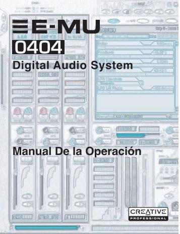 E-MU 0404 Digital Audio System OpMan (Spanish ... - Creative