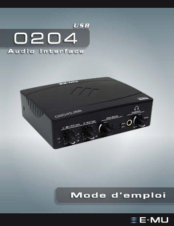 EMU 0204 USB Operation Manual - Creative