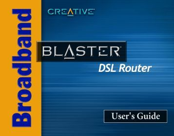 Configuring your DSL Router - Creative