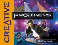 Parts of Creative Prodikeys