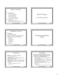 Chapter 1: Introduction ENGO 431: Chapter 2 EM Radiation ...