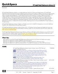 HP Insight Rapid Deployment software 6.0