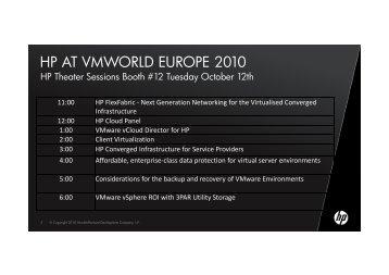 HP AT VMWORLD EUROPE 2010